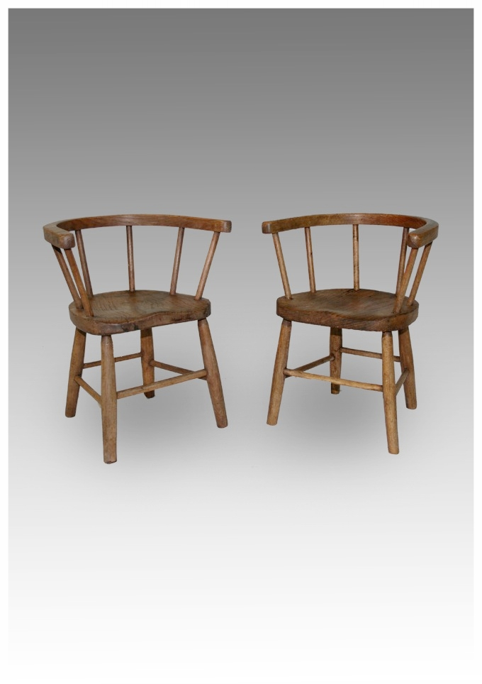 A pair of children's Tub Windsor Chairs £295 - Antique Children's Chairs