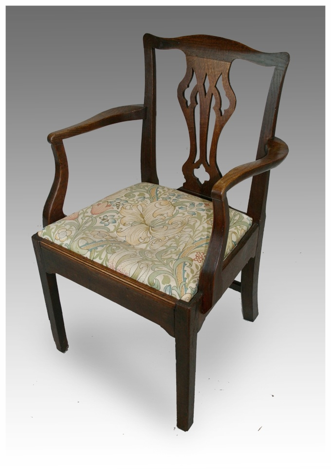 A George III mahogany Elbow Chair, circa 1770. £225. - Chairs - Dining & Kitchen Marcus Moore Antiques Sells Antique