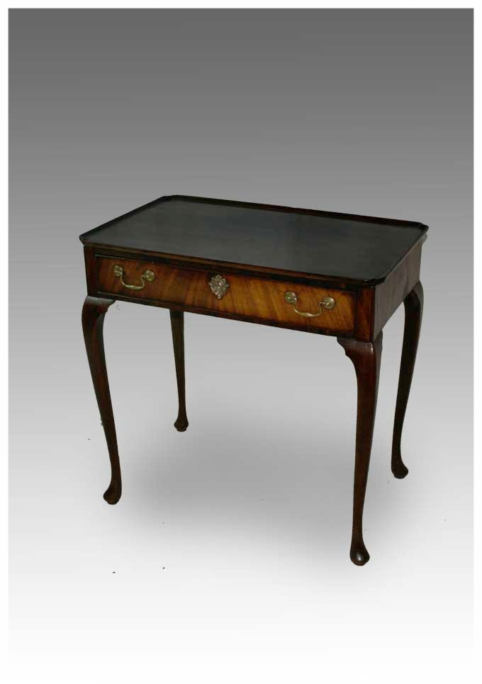 A George III Mahogany Silver Table With Dished Top And Standing On Cabriole  Legs, Circa 1770. (29x18.5x28.5h) £1650. Ref LB125