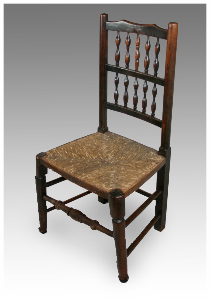 A late Georgian Lancashire Spindle Back Chair, circa 1820. £165. - Chairs - Dining & Kitchen