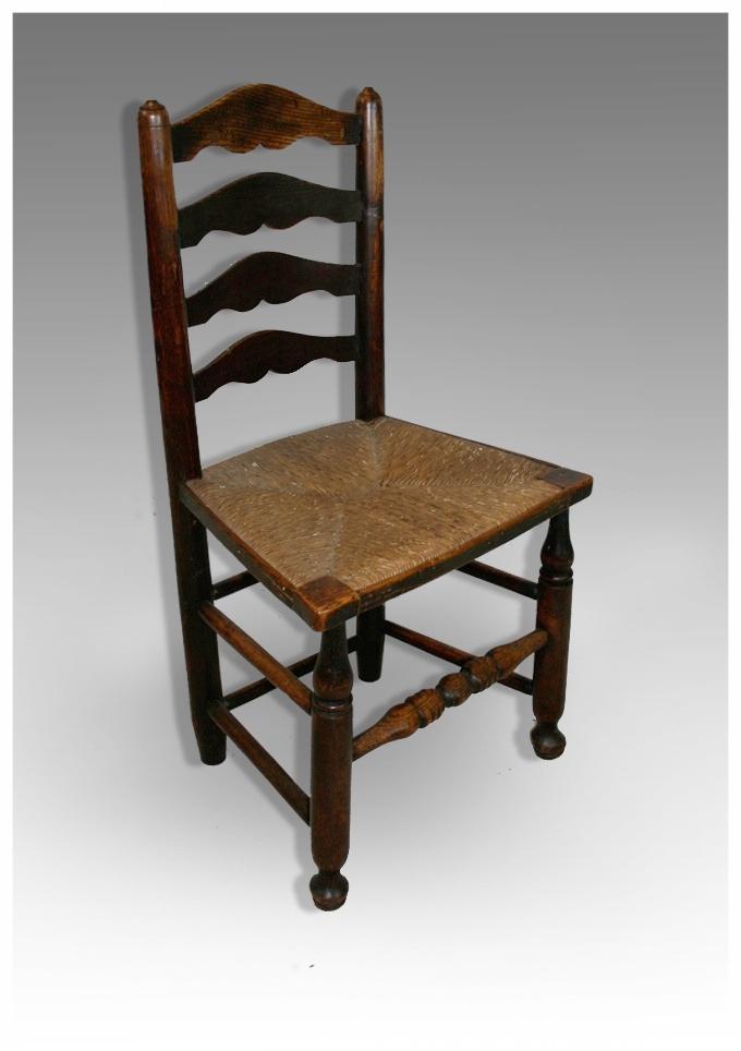 A Single Ladder Back Chair In Ash, Circa 120. £225.