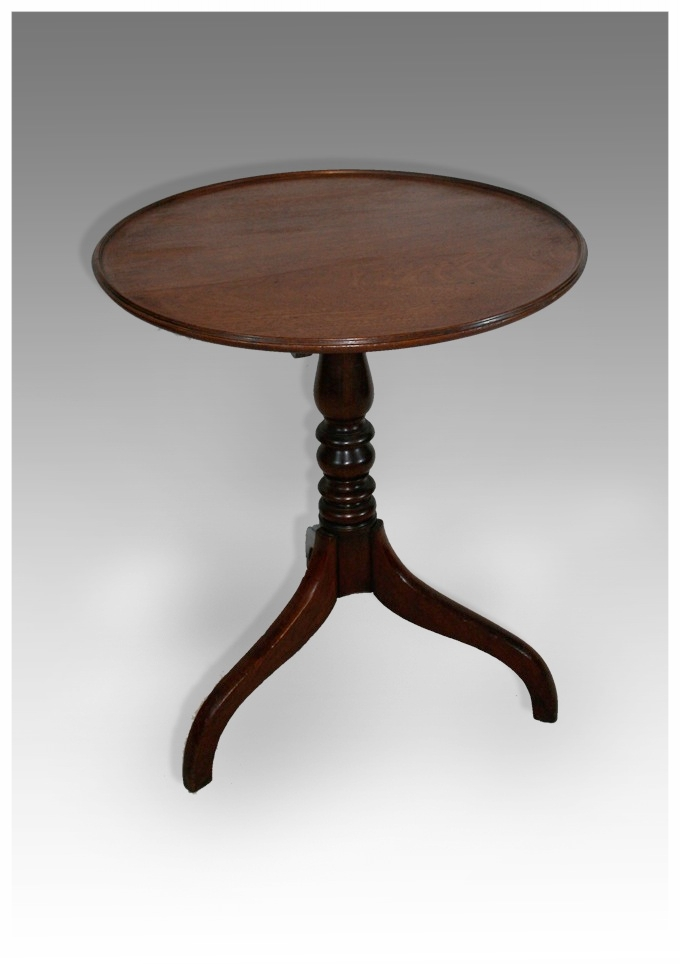 A Nice Dished Top Mahogany Georgian Tripod Table. (24.5x29h) £650